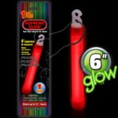 "Red 6"" Glow Stick - Retail Pack"