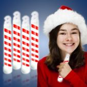 "Candy Cane Glow Sticks-6""-Retail 4 Pack"