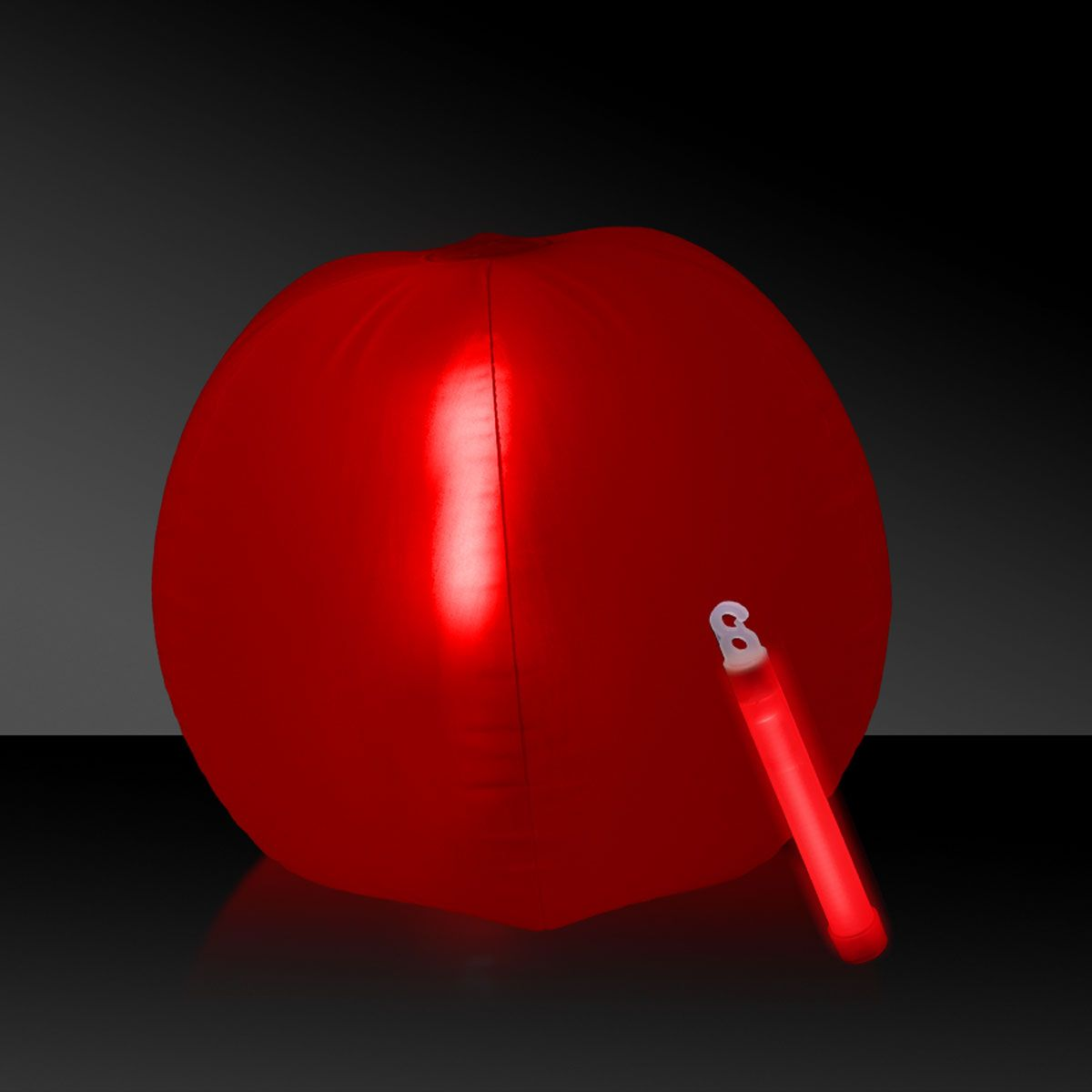 "Glow in the Dark Beach Ball - 12"""" Red, 1 Each"" GNO102EA"