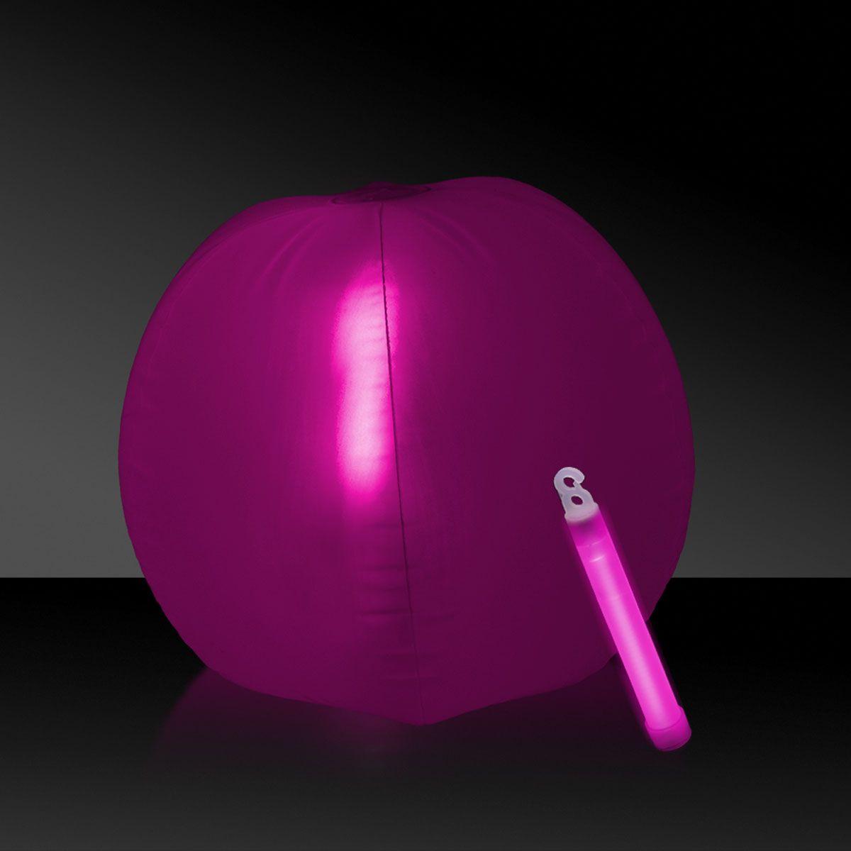 "Glow in the Dark Beach Ball - 12"""" Pink, 1 Each"" GNO105EA"