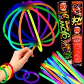 Assorted Color Glow Bracelets - Retail Pack of 50