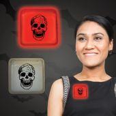 "Skull Red Glow Badge-3"""