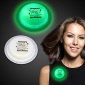 "Happy Birthday Green Glow Badge-3"""