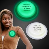 Matthew 5:14 Green Glow Badge-3""