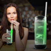"Green Glow Motion Straw-9""-25 Pack"