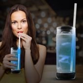 "Blue Glow Motion Straw-9""-25 Pack"