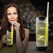 "Yellow Glow Motion Straw-9""-25 Pack"