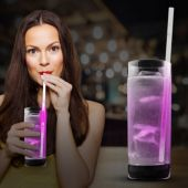 "Pink Glow Motion Straw-9""-25 Pack"