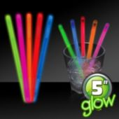 "5"" Glow Swizzle Sticks - 50 Pack"