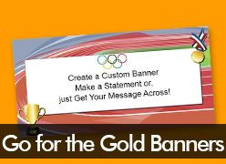 Go for the Gold Custom Banners
