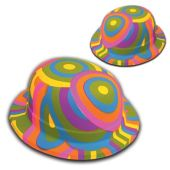 Psychedelic Derby Hats-12 Pack