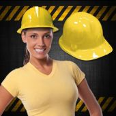 Yellow Plastic Construction Hats - 12 Pack