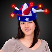 LED Patriotic Jester Hat