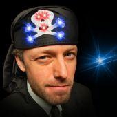 LED Skull and Crossbones Hat