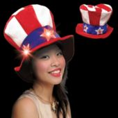 Flashing LED Uncle Sam Hat