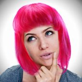Neon Pink Wig