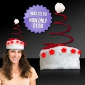 Flashing Spring Tree LED Santa Hat
