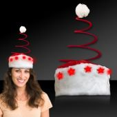 LED Spring Tree Santa Hat