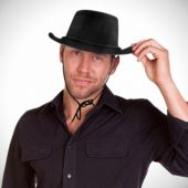 Black Cowboy Hat-12 Pack
