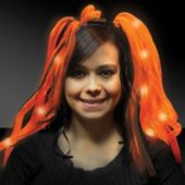 Orange Diva Dreads LED Headband - 14 Inch