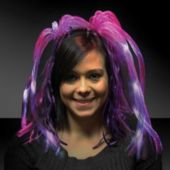 Purple Diva Dreads LED Headband - 14 Inch