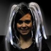 Black And White Diva Dreads LED Headband - 14 Inch