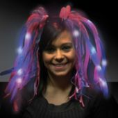 Blue And Pink Diva Dreads LED Headband - 14 Inch