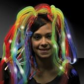 Rainbow Diva Dreads LED Headband - 14 Inch