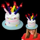 Birthday Cake And Candles LED Hat