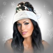 Camouflage Santa Hats - 12 Pack