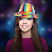 Rainbow LED and Light-Up Sequin Fedora