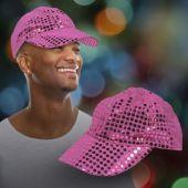 Pink Sequin Baseball Cap