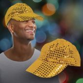 Gold Sequin Baseball Cap