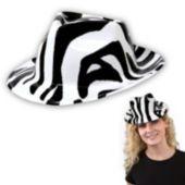 Zebra Print Fedoras-12 Pack