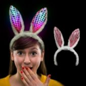 LED Bunny Ears Headband