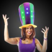 Mardi Gras Light Up Stove Top Hat