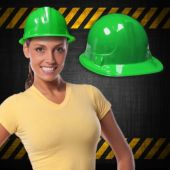 Green Plastic Construction Hats