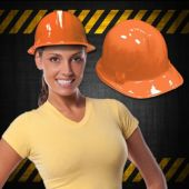 Orange Plastic Construction Hats