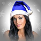 Blue Felt Santa Hats-12 Pack