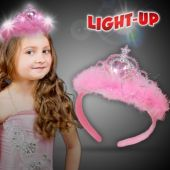 LED Pink Feather Tiara