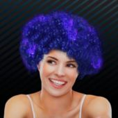 Blue LED Spirit Wig