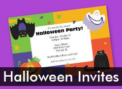 Personalized Halloween Invitations
