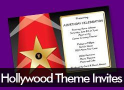 Personalized Hollywood Theme Invitations