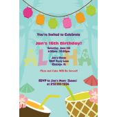 Aloha Luau Personalized Invitations
