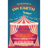 Circus Tent Birthday Party Vertical Invitations