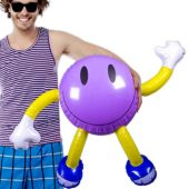 """Inflatable Smile Men - 34"""" Multi-Color, 12 Pack"""