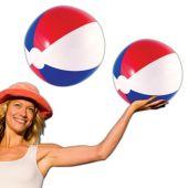 """Patriotic Beach Balls - 16"""", 12 Pack"""