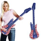 "Patriotic Inflatable Guitars -38"", 12 Pack"