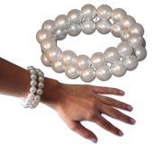 Pearl Double Strand Bracelets-12 Pack
