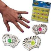Crown Rings - 12 Pack